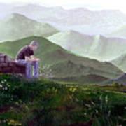 Antonio Atop La Rocca De Monte Calvo Poster
