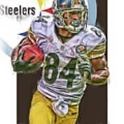 Antonio Brown Pittsburgh Steelers Oil Art 4  Poster
