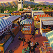 Ants At The Hollywood Farmers Market Poster by Robin Moline