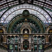 Antwerp Train Terminal Poster