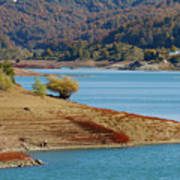 Aoos Lake Shore In Epirus, Greece Poster