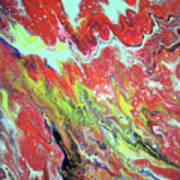 Ap-red And Aqua Poster