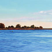 Apalachicola Bay Autumn Morning Poster