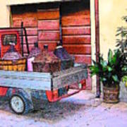 Ape Truck In Tuscany Poster