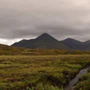 Appealing Scenic Landscacpe In Cuillen Hills Scotland  Poster