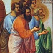 Appearance Of Christ To The Apostles Fragment 1311 Poster