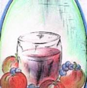 Apple And Blueberry Drink Poster