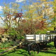 Apple Farm Cart Poster