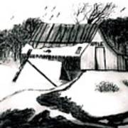 Apple Farm In Winter Poster