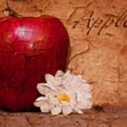 Apple With Daisy Poster