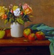 Apples And Flowers Poster