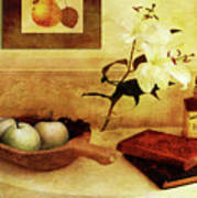 Apples And Pears In A Hallway Poster