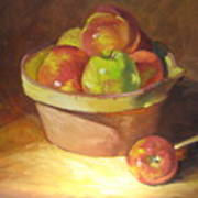Apples In A French Bowl. Poster