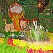 Apples In Autumn In Bellagio Conservatory In Las Vegas- Nevada Poster