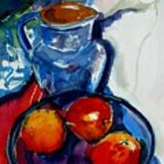 Apples In Glass Bowl Poster
