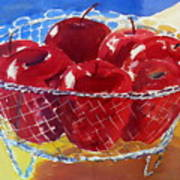 Apples In Wirebasket Poster