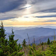 Apricot Afternoon at Clingmans Dome Poster