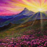 April Sunset Poster