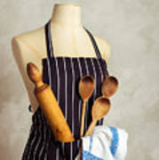 Apron With Utensils Poster
