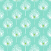 Aqua And White Palm Leaves- Art By Linda Woods Poster