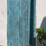Aqua Door Textures Poster