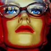 Aqua Eyed Angie Poster