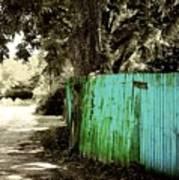 Aqua Fence Poster