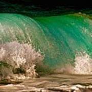 Aqua Green Wave Poster