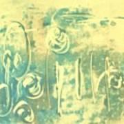 Aqua Monotype Poster