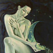 Aquarius From  Zodiac Signs Series Poster by Dorina  Costras