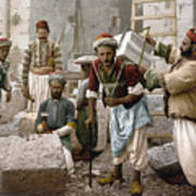 Arab Stonemasons, C1900 - To License For Professional Use Visit Granger.com Poster