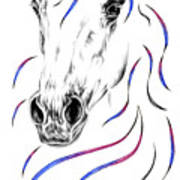Arabian Horse Style Poster