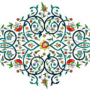 Arabic Floral Ornament Poster