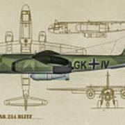 Arado Ar234b-2 - Profile Art Poster