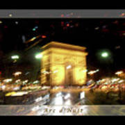 Arc De Triomphe By Bus Tour Greeting Card Poster V1 Poster