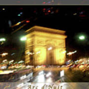 Arc De Triomphe By Bus Tour Greeting Card Poster V2 Poster
