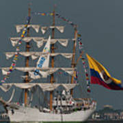 Arc Gloria Colombian Tall Ship Poster