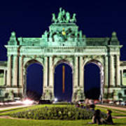 Arcade Du Cinquantenaire At Night - Brussels Poster