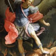 Archangel Michael Defeating Satan Poster