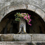 Arched Fountain Poster
