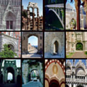 Arches Collage Poster