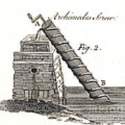 Archimedes Screw, 1769 Poster
