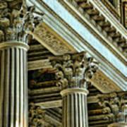 Architecture Columns Palace King Louis Xiv Versailles  Poster