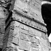 Architecural Detail At Irish Jerpoint Abbey County Kilkenny Ireland Black And White Poster