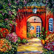 Archway Garden Poster