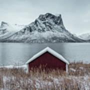 Arctic Landscape In Northern Norway, Senja Poster