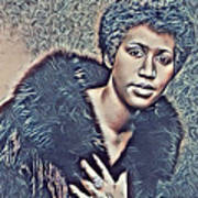 Aretha Franklin Abstract Art Poster