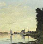 Argenteuil In Late Afternoon Poster