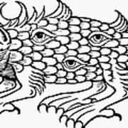 Argus Sea Monster, 1537 Poster