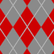 Argyle Diamond With Crisscross Lines In Paris Gray N02-p0126 Poster